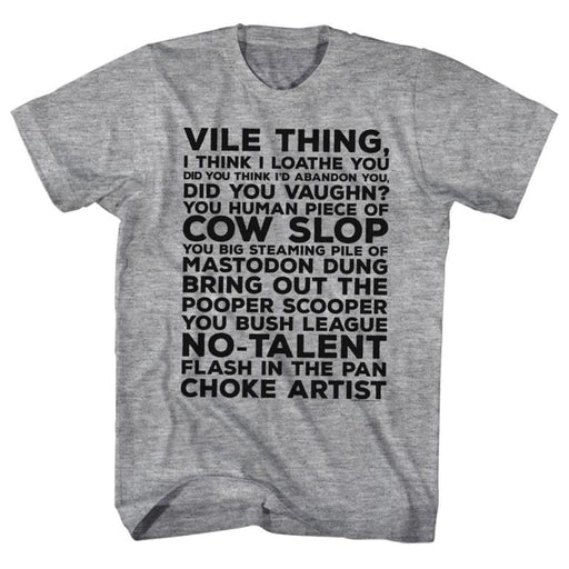 MAJOR LEAGUE-VILE THING-GRAY HEATHER ADULT S/S TSHIRT