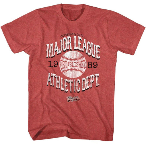 MAJOR LEAGUE-VINTAGE MAJOR LEAGUE-RED HEATHER ADULT S/S TSHIRT