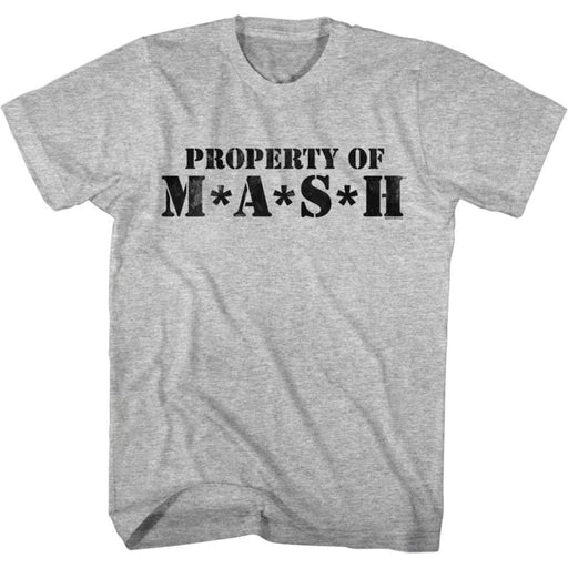 MASH-PROPERTY OF MASH-GRAY HEATHER ADULT S/S TSHIRT