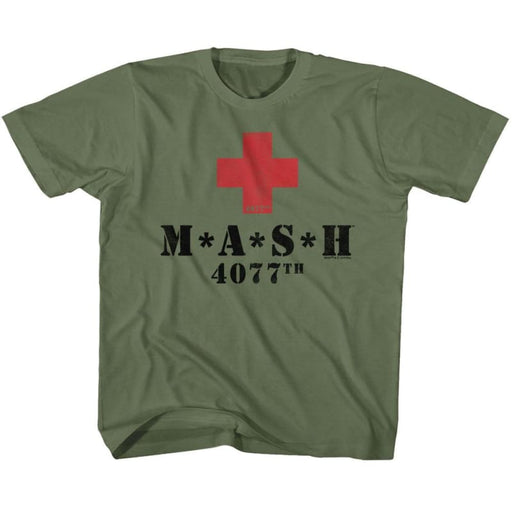MASH-RED CROSSILITARY GREEN YOUTH S/S TSHIRT