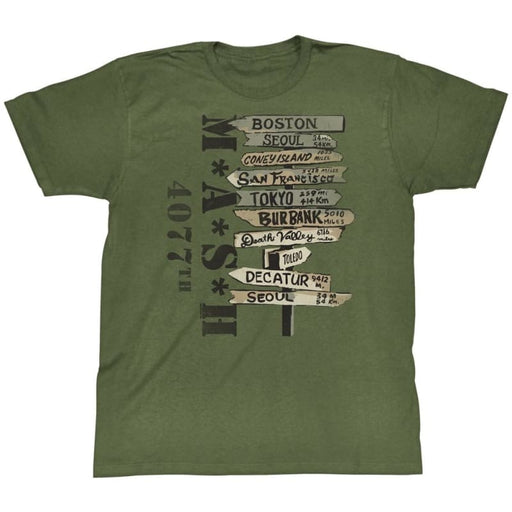 MASH-WHERE TOILITARY GREEN ADULT S/S TSHIRT