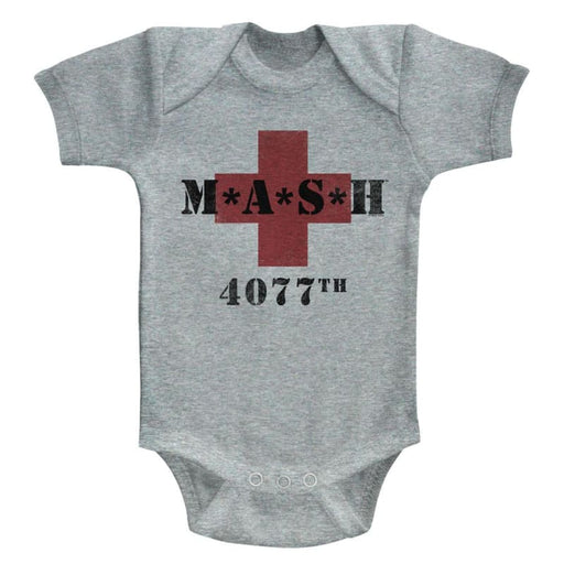 MASHASH 4077-GRAY HEATHER NEWBORN S/S BODYSUITNB