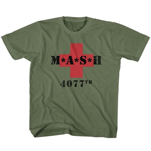 MASHASH 4077ILITARY GREEN YOUTH S/S TSHIRT