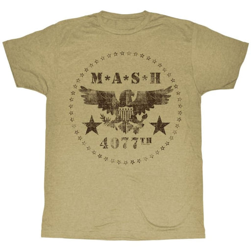MASHASH CIRCLE-KHAKI HEATHER ADULT S/S TSHIRT