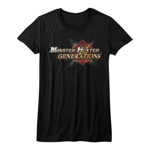 MONSTER HUNTERHG LOGO-BLACK JUNIORS S/S TSHIRT