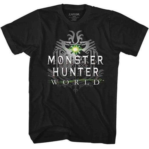 MONSTER HUNTERHW LOGO-BLACK ADULT S/S TSHIRT