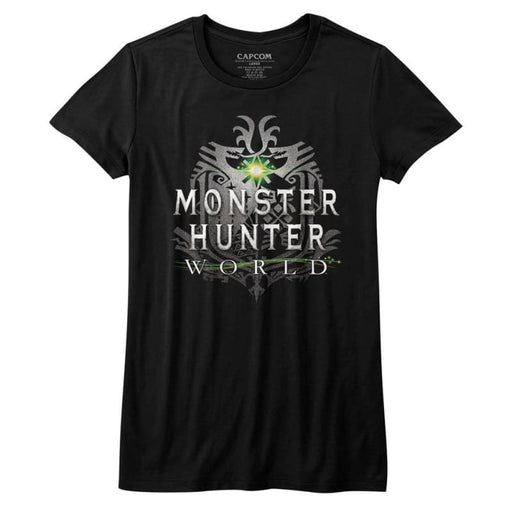 MONSTER HUNTERHW LOGO-BLACK JUNIORS S/S TSHIRT