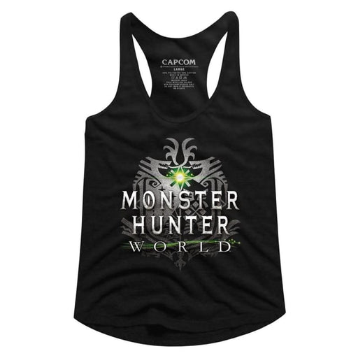 MONSTER HUNTERHW LOGO-BLACK LADIES RACERBACK