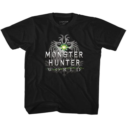 MONSTER HUNTERHW LOGO-BLACK YOUTH S/S TSHIRT