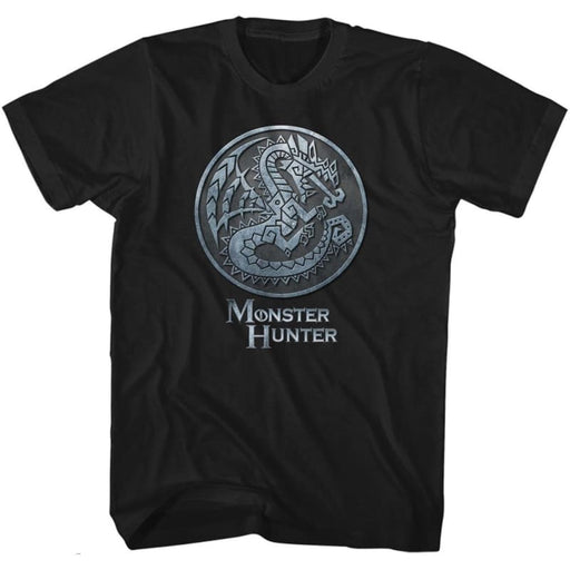 MONSTER HUNTERONSTER EMBLEM-BLACK ADULT S/S TSHIRT