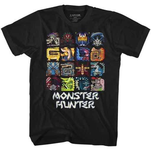 MONSTER HUNTERYMBOLS-BLACK ADULT S/S TSHIRT