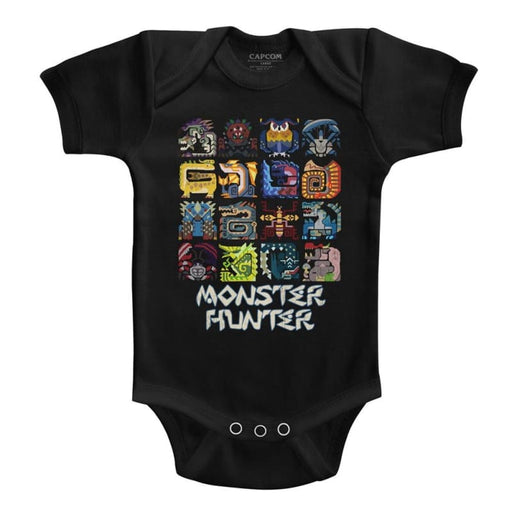 MONSTER HUNTERYMBOLS-BLACK INFANT S/S BODYSUIT
