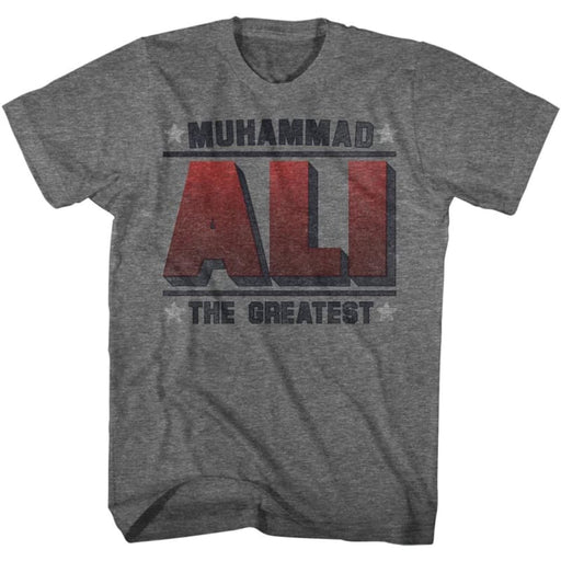 MUHAMMAD ALI-GREATEST-GRAPHITE HEATHER ADULT S/S TSHIRT