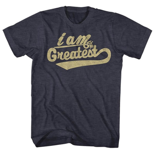 MUHAMMAD ALI-GREATEST-NAVY HEATHER ADULT S/S TSHIRT