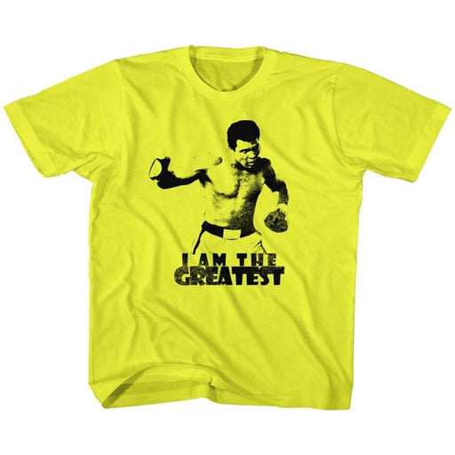 MUHAMMAD ALI-I AM THE GREATEST-YELLOW TODDLER S/S TSHIRT
