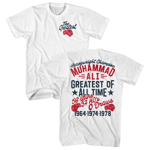 MUHAMMAD ALI-THE GREATEST GLOVE-WHITE ADULT S/S TSHIRT ***F&B***