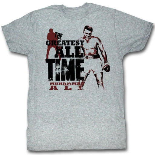 MUHAMMAD ALI-THE GREATEST-GRAY HEATHER ADULT S/S TSHIRT