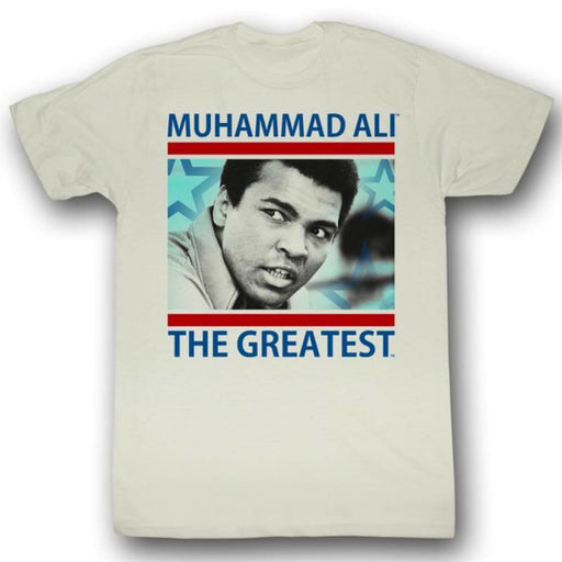 MUHAMMAD ALI-THE GREATEST-NATURAL ADULT S/S TSHIRT
