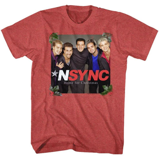 NSYNC-NSYNC FOR CHRISTMAS-RED HEATHER ADULT S/S TSHIRT