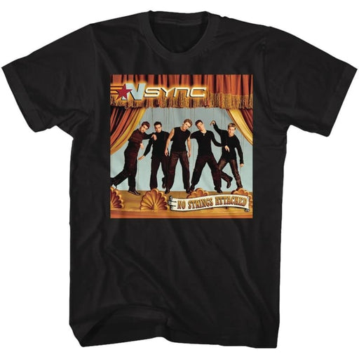 NSYNC-NO STRINGS-BLACK ADULT S/S TSHIRT