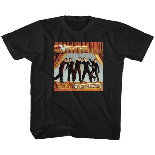 NSYNC-NO STRINGS-BLACK YOUTH S/S TSHIRT