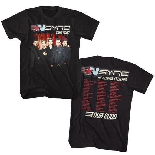 NSYNC-TOUR2000-BLACK ADULT S/S TSHIRT ***F&B***