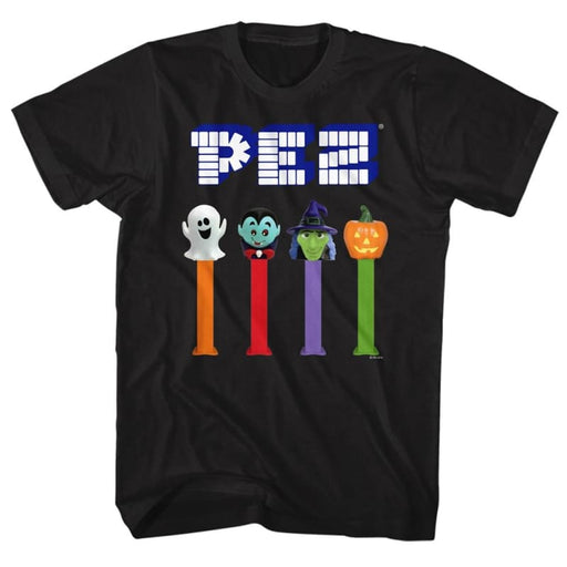 PEZ-HALLOWEEN-BLACK ADULT S/S TSHIRT