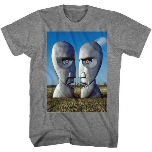 PINK FLOYDETAL HEADS-GRAPHITE HEATHER ADULT S/S TSHIRT