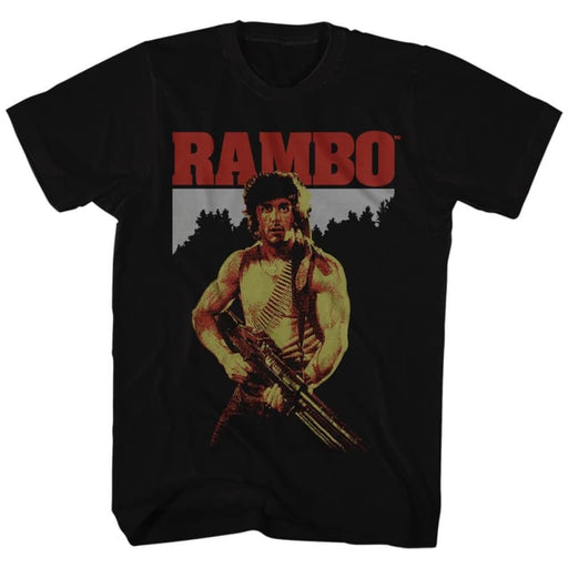 RAMBO-REAL RAMBO-BLACK ADULT S/S TSHIRT