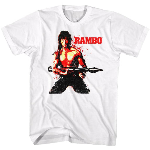 RAMBO-RED RAMBO-WHITE ADULT S/S TSHIRT