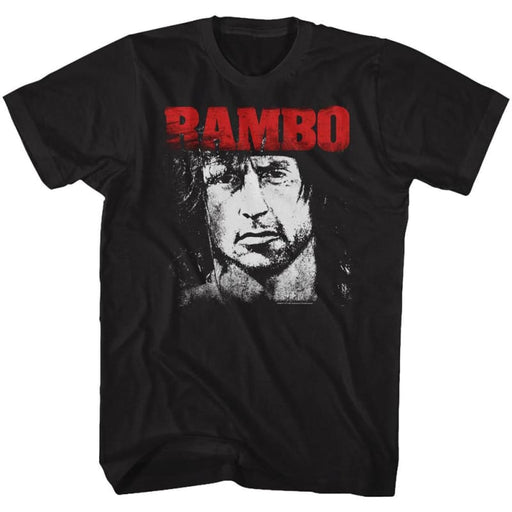 RAMBO-RED & WHITE-BLACK ADULT S/S TSHIRT