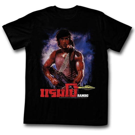 RAMBO-UNKNOWN-BLACK ADULT S/S TSHIRT