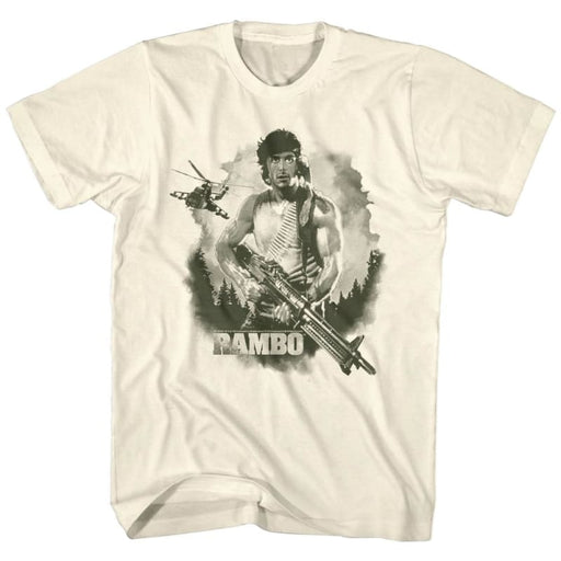 RAMBO-WATERCOLOR-NATURAL ADULT S/S TSHIRT