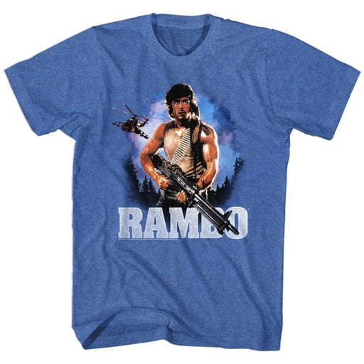 RAMBO-WILD BLUE YONDER-ROYAL HEATHER ADULT S/S TSHIRT