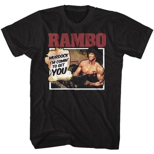 RAMBO-YOU WONT BELIEVE-BLACK ADULT S/S TSHIRT