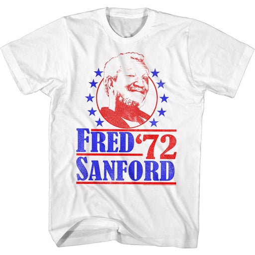 REDD FOXX-VOTE FOR FRED-WHITE ADULT S/S TSHIRT