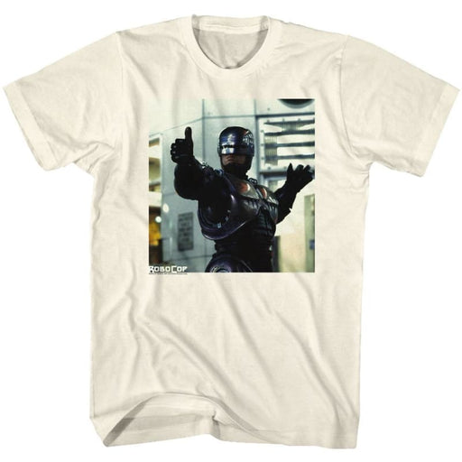 ROBOCOP-THUMBS AND AMMO-NATURAL ADULT S/S TSHIRT