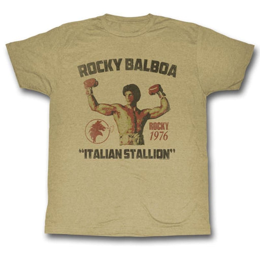 ROCKYTALLION-KHAKI HEATHER ADULT S/S TSHIRT