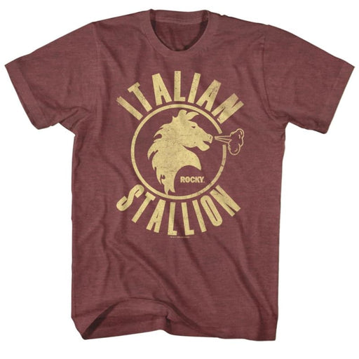 ROCKYTALLION-VINTAGE MAROON HEATHER ADULT S/S TSHIRT