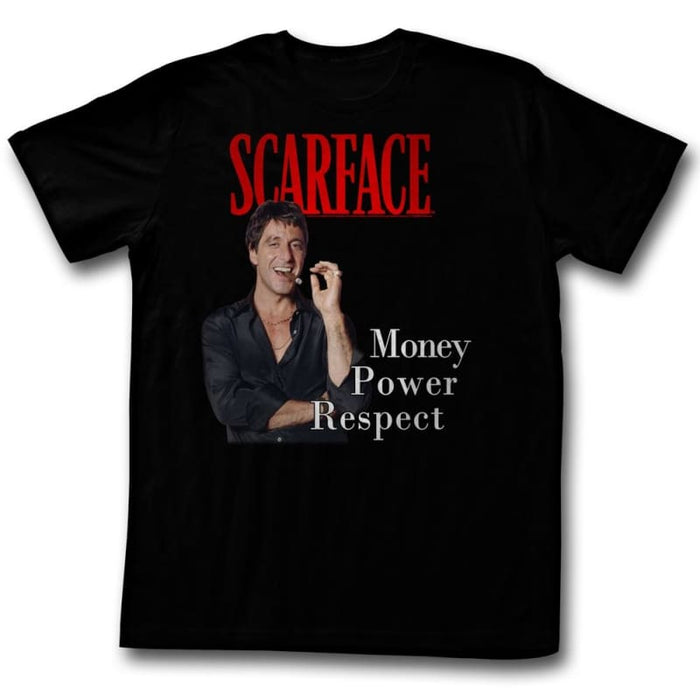SCARFACE.P.R-BLACK ADULT S/S TSHIRT