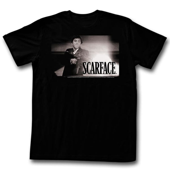 SCARFACE-WHITEFIRE-BLACK ADULT S/S TSHIRT