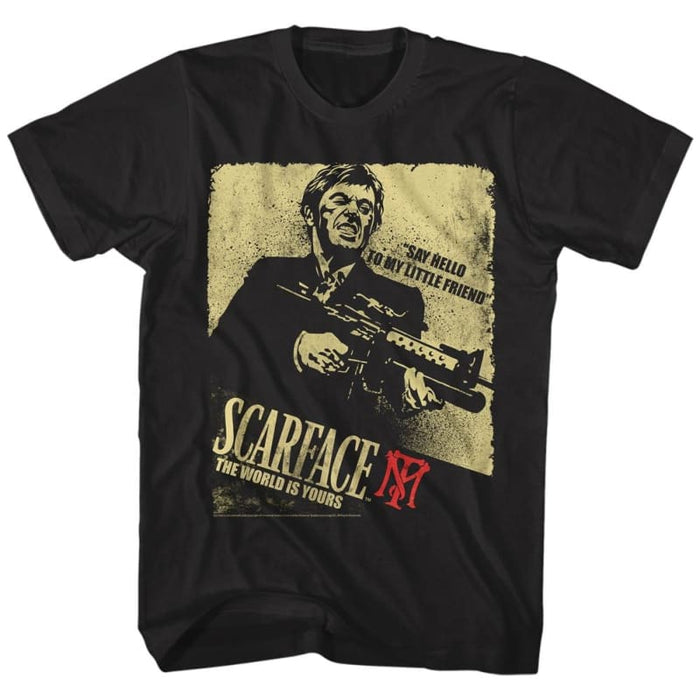 SCARFACECARFACE ACTION-BLACK ADULT S/S TSHIRT