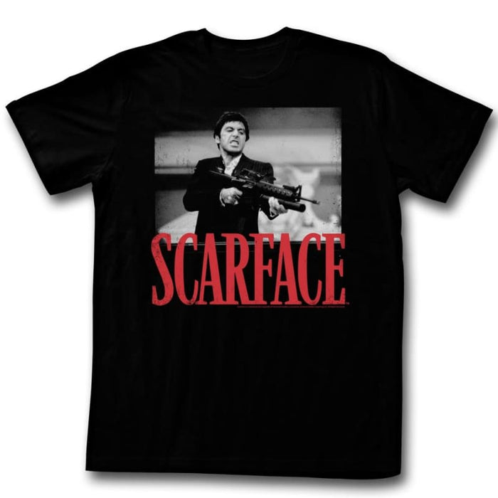 SCARFACEHOOTAH-BLACK ADULT S/S TSHIRT