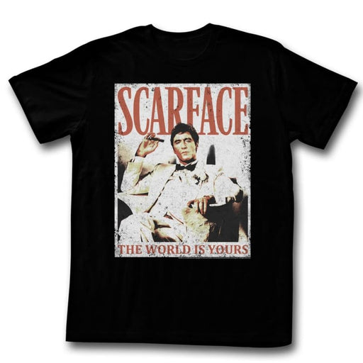 SCARFACEORE DA WORLD-BLACK ADULT S/S TSHIRT