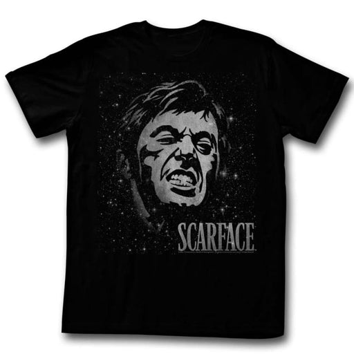 SCARFACEPACE-BLACK ADULT S/S TSHIRT