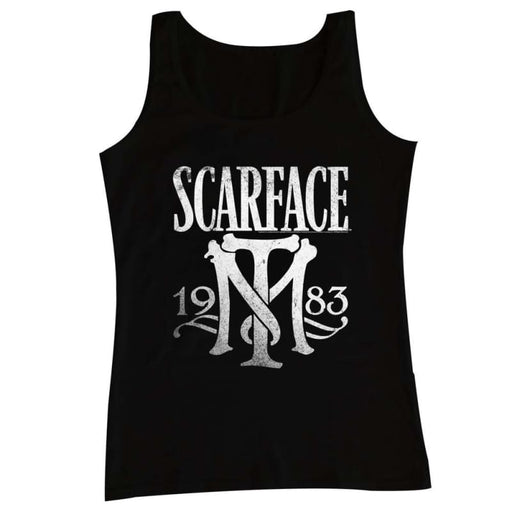SCARFACEYMBOL-BLACK ADULT TANK