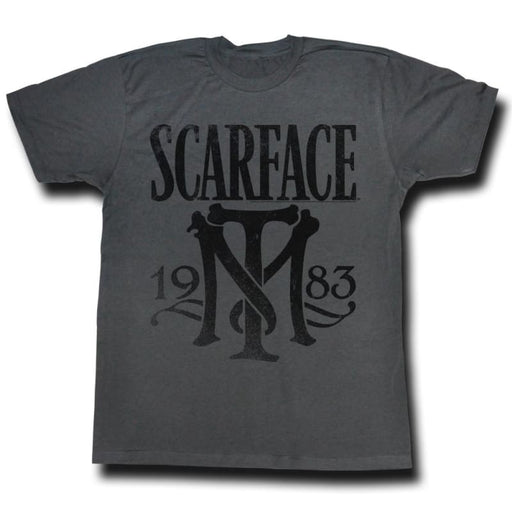 SCARFACEYMBOL-BLACK HEATHER ADULT S/S TSHIRT