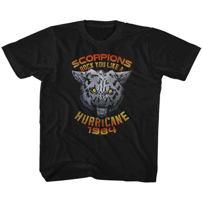 SCORPIONS-WOLF-BLACK YOUTH S/S TSHIRT