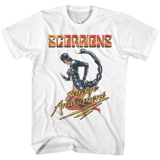 SCORPIONSAVAGE A-WHITE ADULT S/S TSHIRT