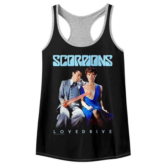 SCORPIONSELTY-BLACK/GRAY HEATHER LADIES - COLOR BLOCK RACERBACK